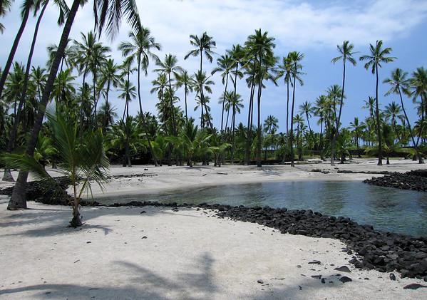 Keone'ele - the cove for the royal canoe landing - located at Pu'uhonua (Place of Refuge) - Kona district