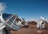 Submillimeter Array Radio Telescopes with a 20 ft. (6 m) diameter - atop the Mauna Kea Volcano - Hamakua district