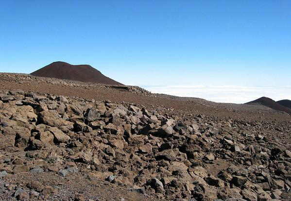 Cinder cones along the slope of Mauna Kea Volcano - Hamakua district
