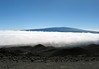 Above the cloud levels between here on Mauna Kea, to the distal ridge of Mauna Loa (Long Mountain) Volcano - Hamakua district