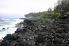 Along the lava wall shoreline at Hawaiian Paradise Park (community) - eastern island, Puna district
