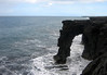 Holei Sea Arch - a 80 ft. (24 m) drop from the lava cliffs into the Pacific - Hawaii Volcanoes National Park - Kau district