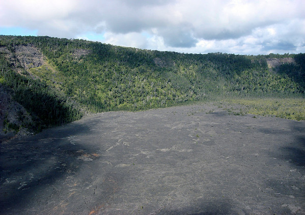 Cloud shadows on the Makaopuhi Crater - part of the Upper East Rift - Hawaii Volcanoes National Park