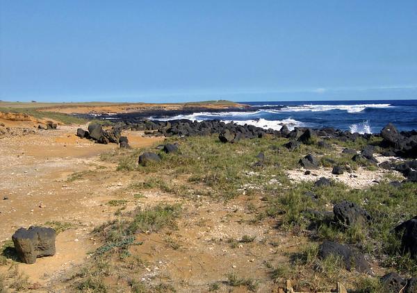 Ka Lae (the point) - the southernmost land point on both the island and the USA - the southern end of the Mauna Loa Volcano - Kaʻū district