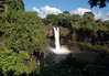 """Waianuenue Falls - locally called Rainbow Falls - Waianuenue means """"rainbow in the water"""" - the source water for the falls is the Wailuku River, the longest river (18 mi./29 km long) in the Hawaiian Islands - Hilo District"""
