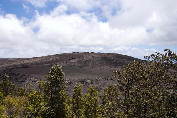Mauna Ulu (growing mountain) Shield - was built by many eruptive episodes during a five year period between 1969 and 1974 - located in the Upper East Rift - Hawaii Volcanoes National Park