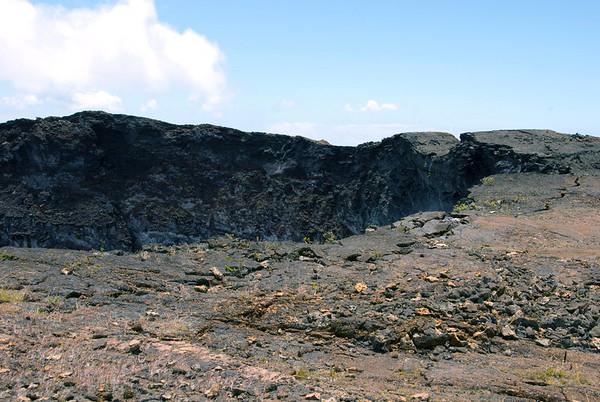 Rim of the Mauna Ulu Crater - Upper East Rift - Hawaii Volcanoes National Park - Kau district
