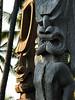 Ki'i - ancient Hawaiian culture humanoid god statues, carved of wood)