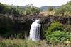 Waiale Falls - is fed by the Wailuku Stream (source on the southeastern slopes of Mauna Kea Volcano - Hilo district