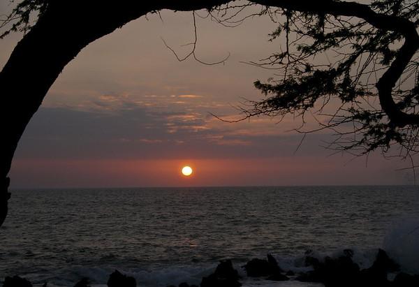 Kona Coast Sunset - Big Island Hawaii