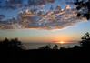 Sunset from the southwest flank of the Mauna Loa Volcano - Kaʻū district