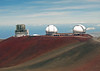 Subaru (is a 27 ft. - 8.2 m optical-infrared telescope, operated by Japan) and Twin Keck Observatories - upon the Mauna Kea Volcano - Hamakua district