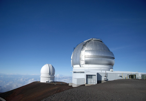 Genimi and Canada-France-Hawaii Observatories - constructed atop the Mauna Kea Volcano - Hamakua district
