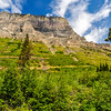 White Clouds & Blue Sky at Glacier National Park