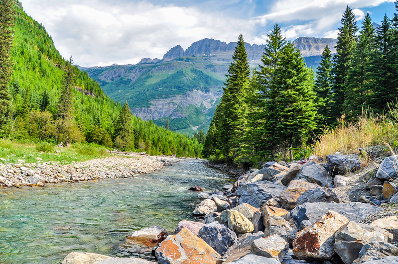 Boulder Lined River
