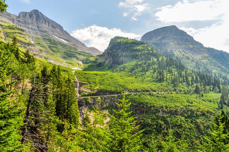 Steep Mountain Scene