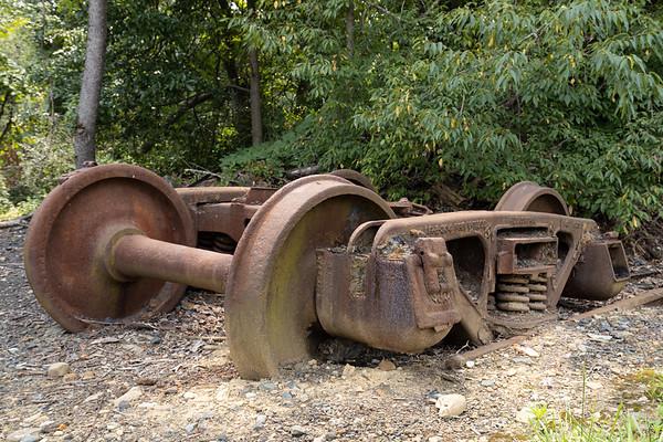 Abandoned Train Wheels