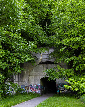 The Sandy Creek, built between 2000 and 2005, has 12 miles of asphalt surface, 7 pedestrian-safe bridges and a tunnel.