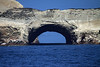 Sea-arch of the Ballestas Islands - with the Peruvian Booby and Guanay Cormorants among - Paracas National Reserve.