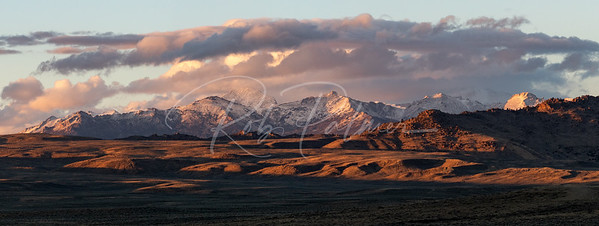 Wind river mountains in western Wyoming