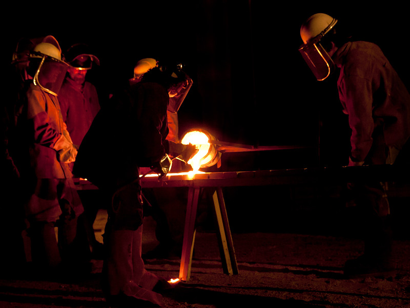 Iron Pour at Sloss Furnaces