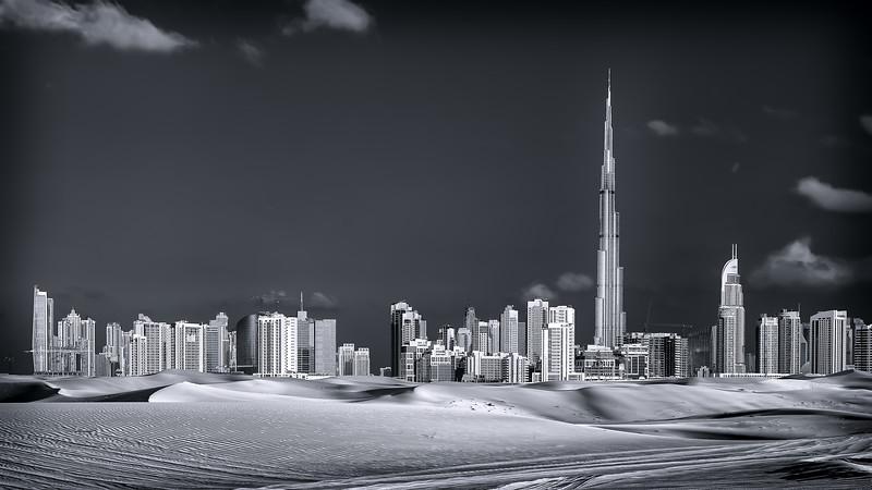 City of Dubai rising from the desert