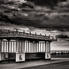 A stormy summer evening over Brighton Beach, no one was using the victorian promenade shelters.  originally i headed down the seafront to capture images at low tide but the weather was too severe.<br /> .