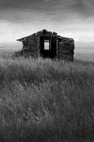 Old pump house near Ashton, Idaho.