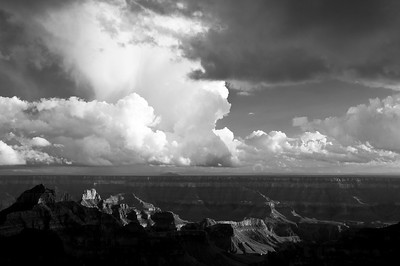 Clearing Storm (Black & White)