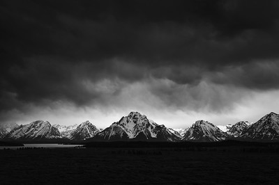 Teton Drama (Black & White)