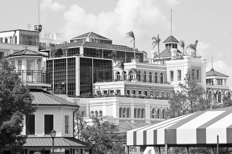 Jackson Brewery New Orleans Black and White
