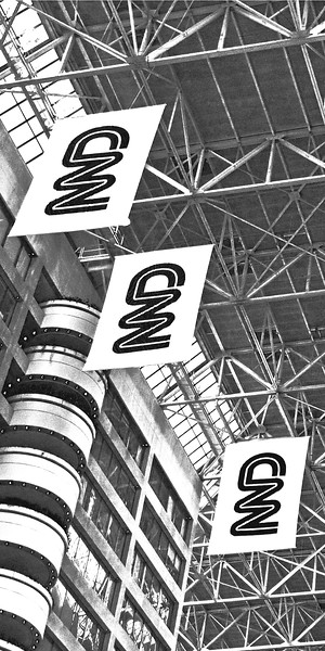 CNN Atlanta Black and White
