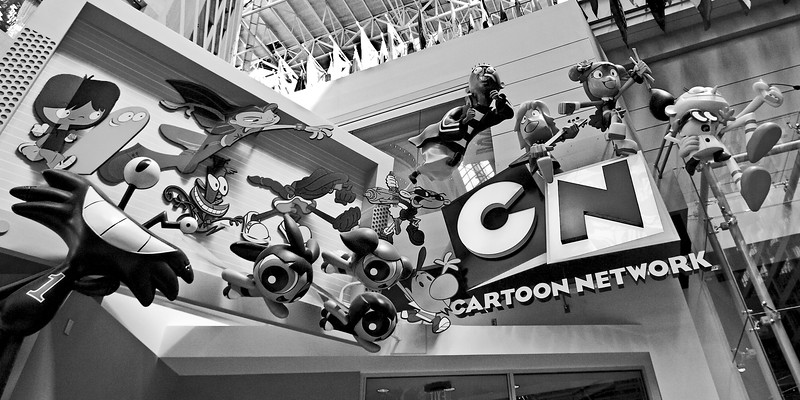 Cartoon Network Atlanta black and white