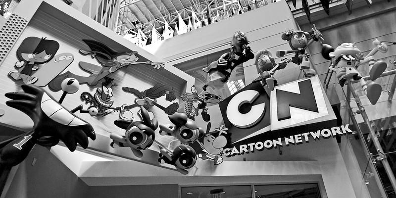 Cartoon Network Atlanta black and white