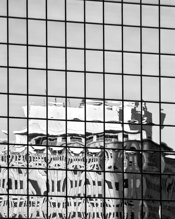 Denver Highrise Reflection architectural photograph