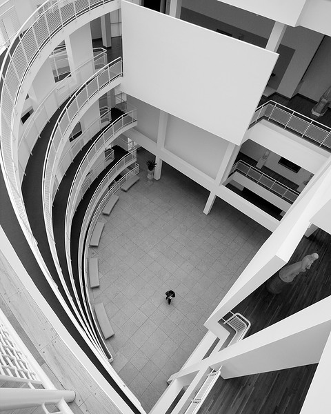 High Museum Atlanta All Alone black and white fine art