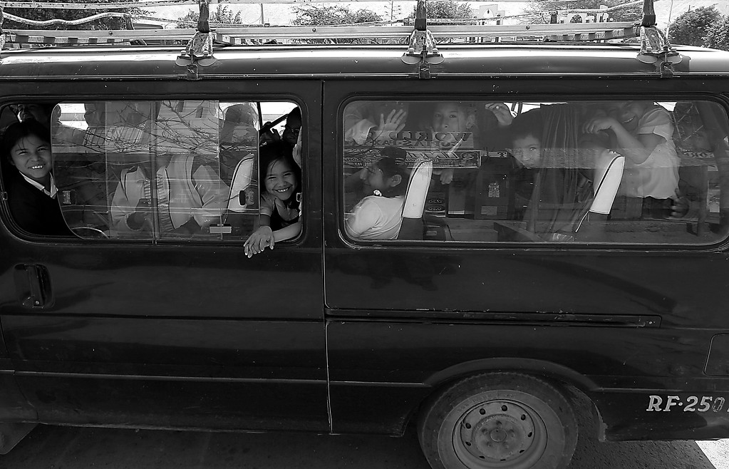 School Bus full of children Acari, Peru