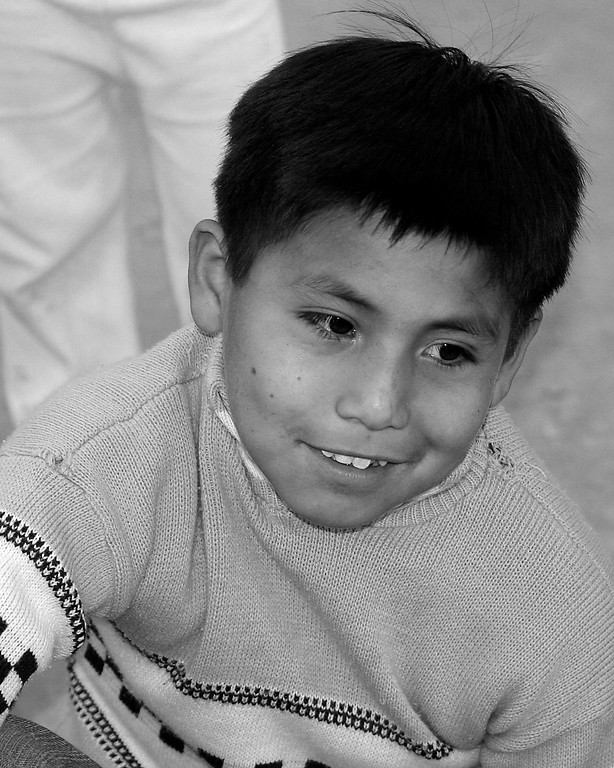 Peruvian Boy smiling