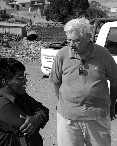 Larry and teacher Mission Trip Huanca, Peru