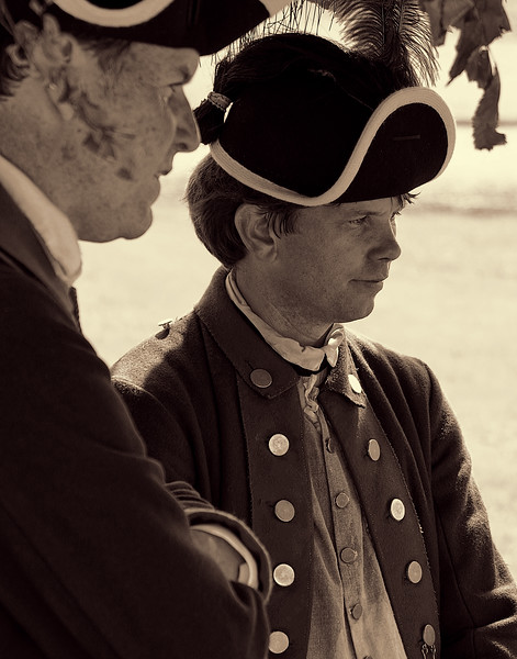 American Village Colonial Sodiers under General George Washington Fought for Liberty
