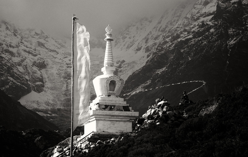Stupa in Langtang Valley, Nepal
