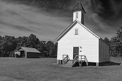 Old Church black and white