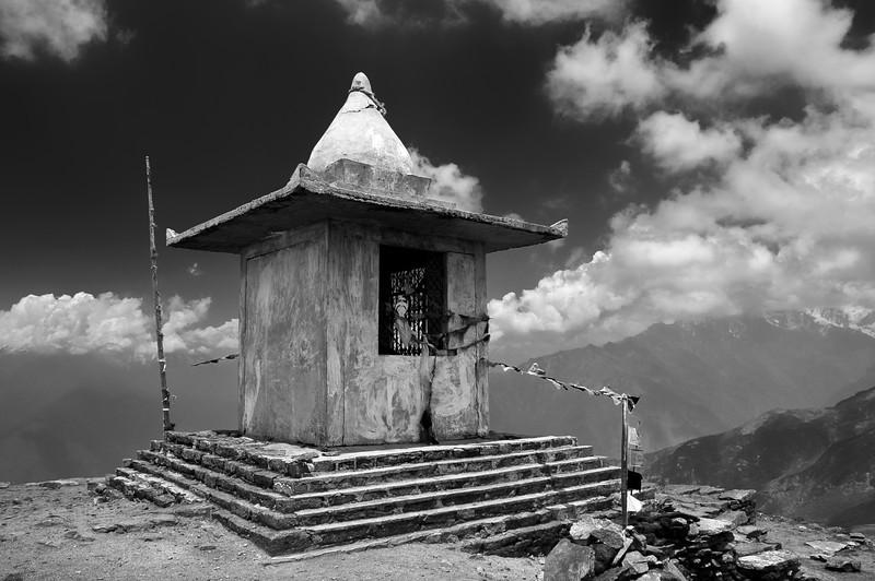 Stupa in Helambu region of Nepal