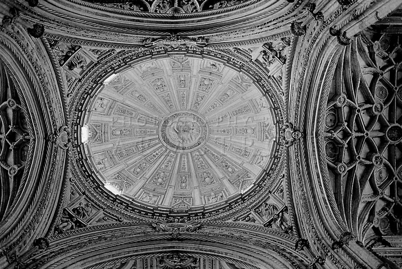 Ceiling of mosque in Cordoba Spain