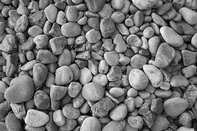 Smooth beach  pebbles.  Otter Cliffs,  Acadia National Park, Maine