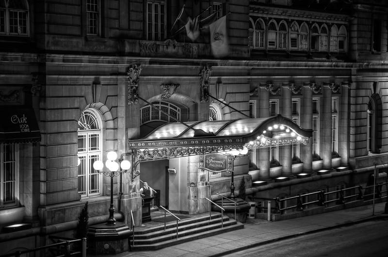Palliser Hotel in Black and White