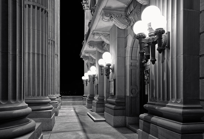 Alberta Legislature in Black and White