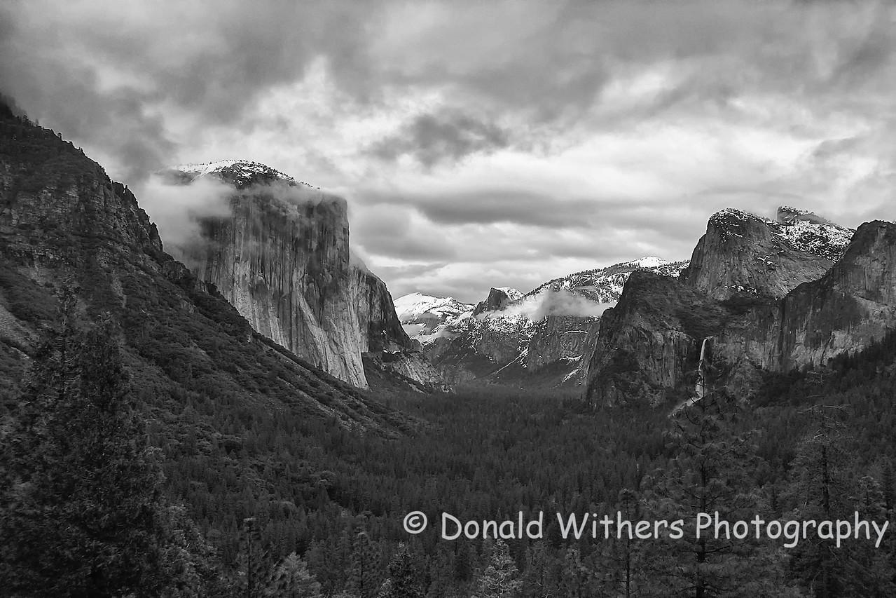 El Capatin, Half Dome & Bridalveil Falls - Yosemite