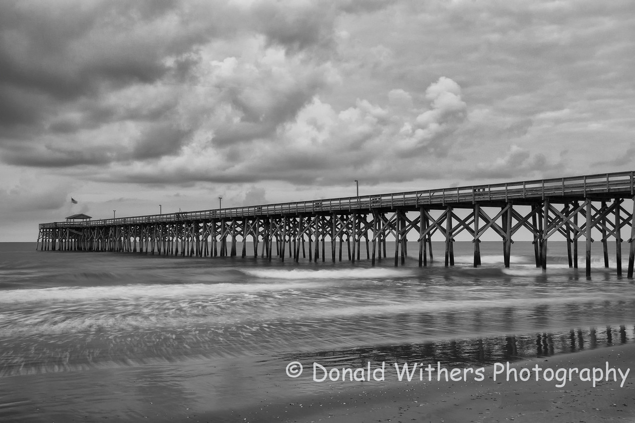 Morning Storm -  Pawleys Pier