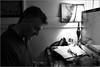 John at his desk, 8/25/16